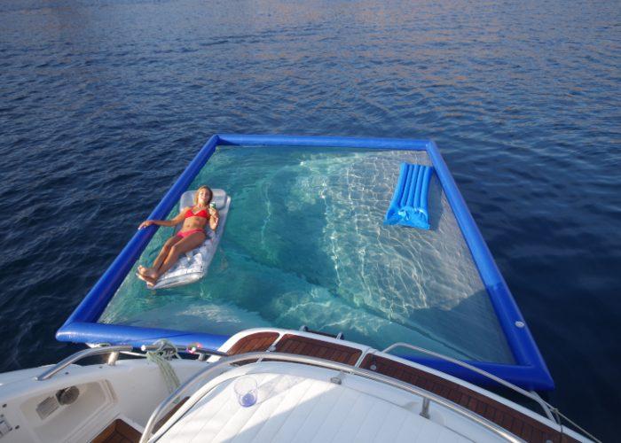 Piscina anti medusas en Mallorca